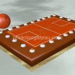 Déco gateau basketball