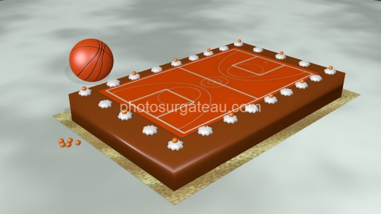 photo déco gateau basketball
