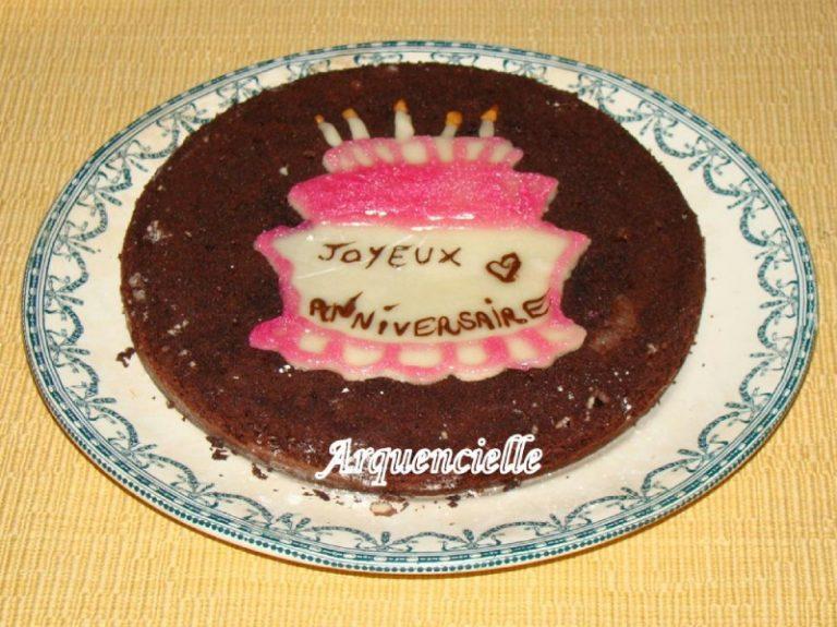 photo déco gateau chocolat anniversaire