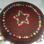 Déco gateau chocolat anniversaire