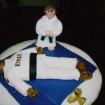 Déco gateau judo