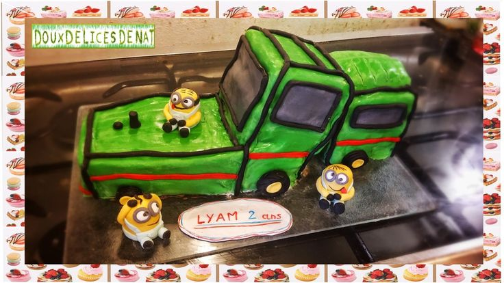 photo déco gateau tracteur
