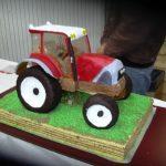Déco gateau tracteur