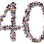Décoration gateau anniversaire 40 ans