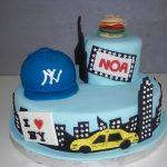 Décoration gateau anniversaire new york