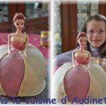 Décoration gateau barbie