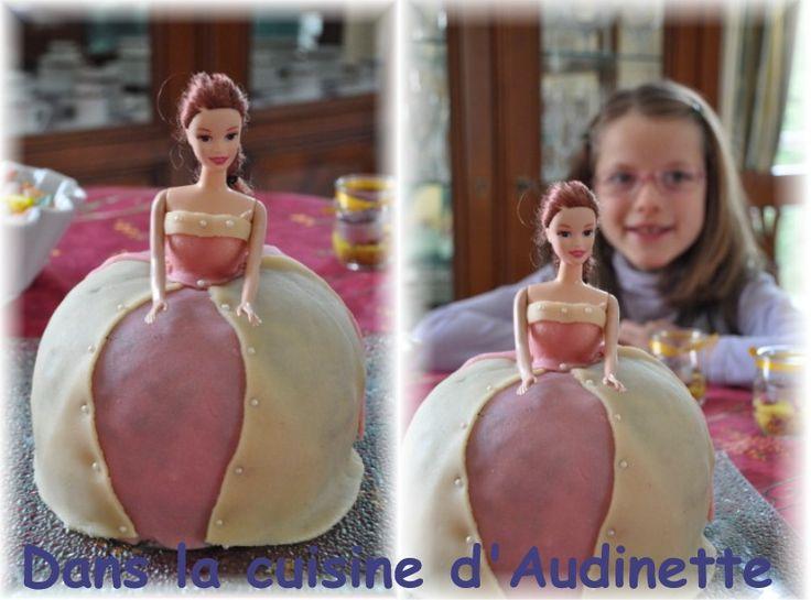 photo décoration gateau barbie