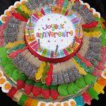 Décoration gateau joyeux anniversaire