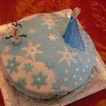 Décoration gateau anniversaire reine des neiges