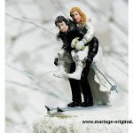Figurine gateau mariage drole