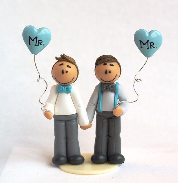 photo figurine gateau mariage gay
