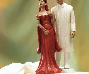 Figurine gateau mariage indien