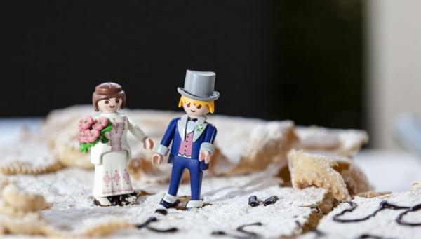 photo figurine gateau mariage playmobil