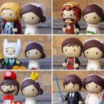 Figurine gateau mariage star wars
