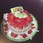 Décoration gateau a la fraise