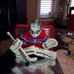 Figurine gateau mariage hockey