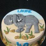 Déco gateau elephant