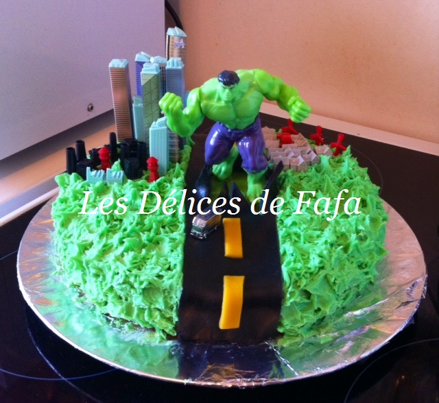 photo déco gateau hulk