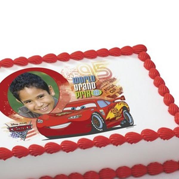 photo décoration gateau cars