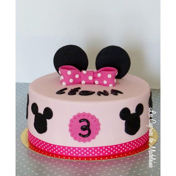 deco gateau minnie