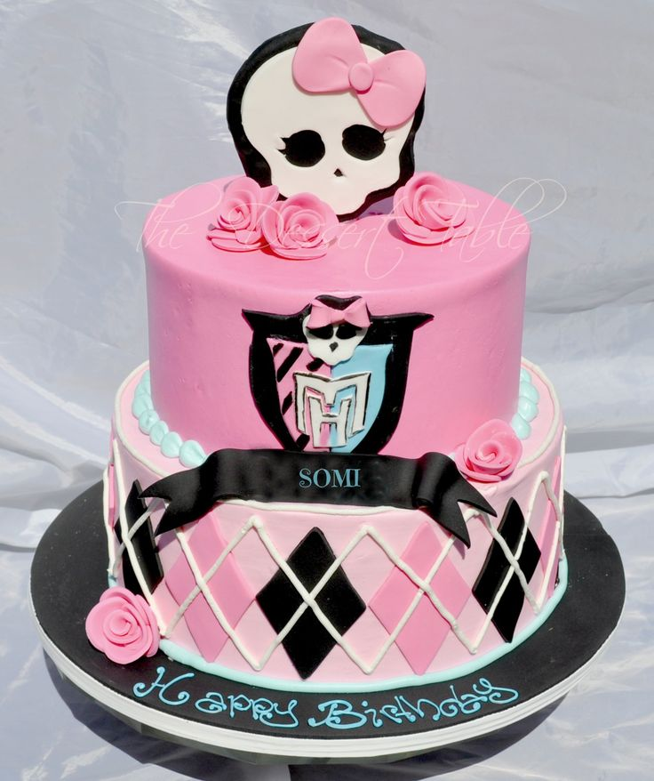 photo décoration gateau monster high