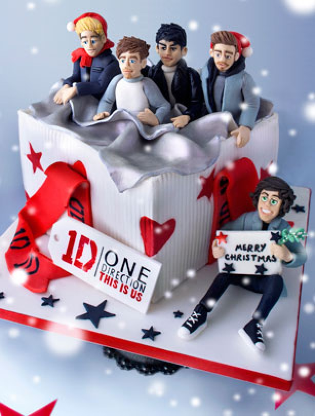 photo décoration gateau one direction