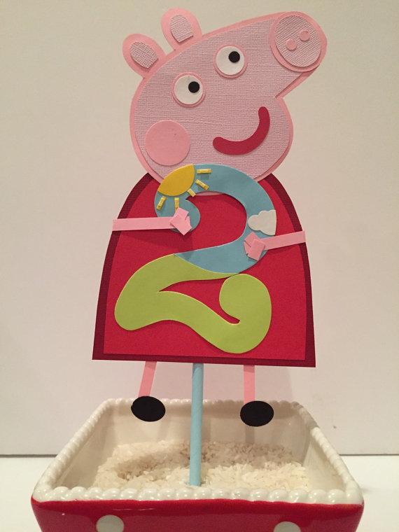 photo décoration gateau peppa pig