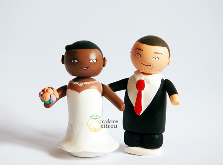 photo figurine gateau mariage diy