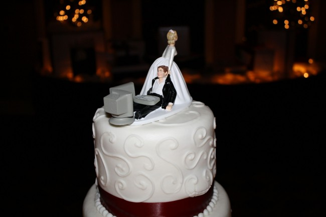 Photo Figurine gateau mariage geek