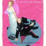 Figurine gateau mariage policier