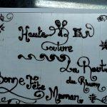 Décoration gateau écriture
