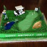 Décoration gateau golf