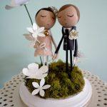 Figurine gateau mariage retro