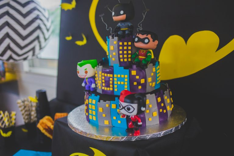photo décoration gateau batman