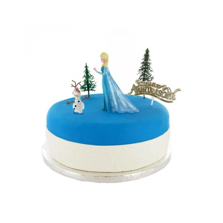 photo décoration gateau la reine des neiges