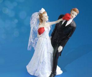 Figurine gateau mariage boxe