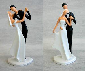 Figurine gateau mariage gendarme