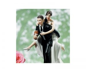 Figurine gateau mariage rugby