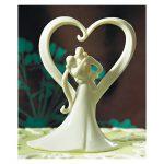 Figurine gateau mariage stylisé