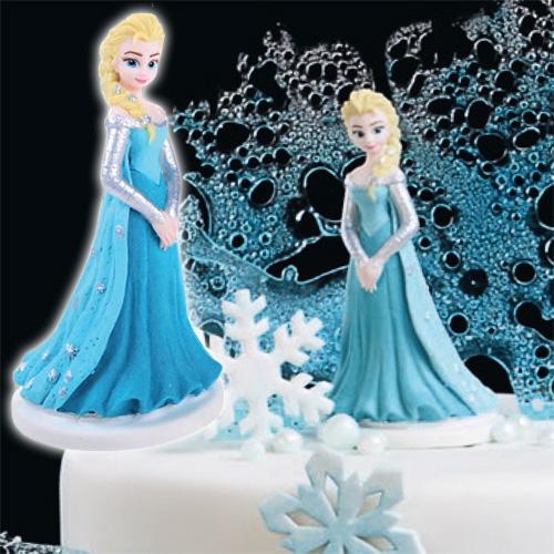 Décoration gateau la reine des neiges