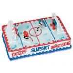 Déco gateau hockey sur glace