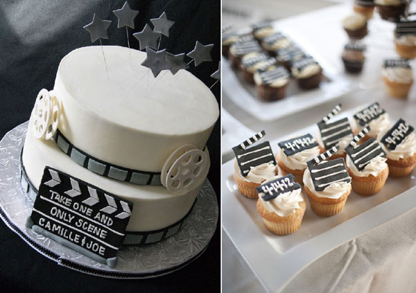 decoration gateau theme cinema