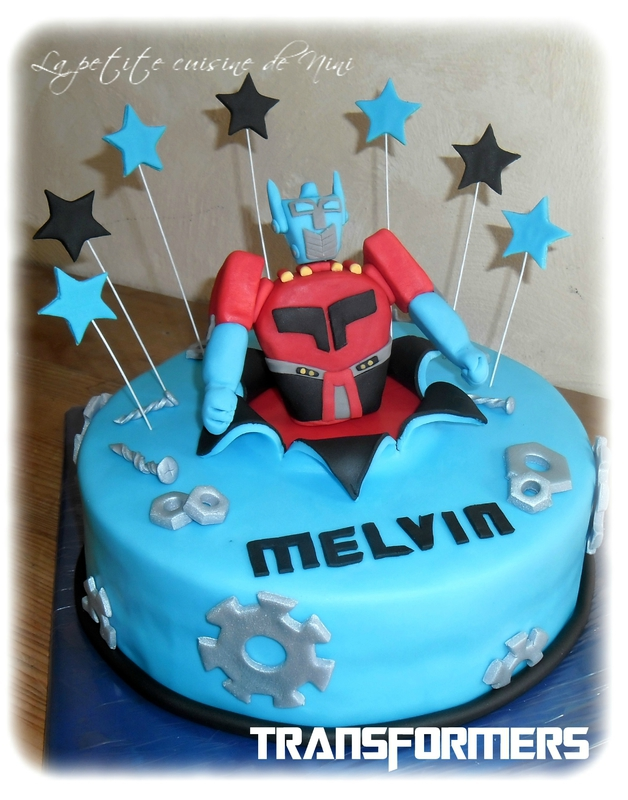 photo déco gateau transformers