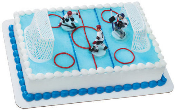 photo décoration gateau hockey