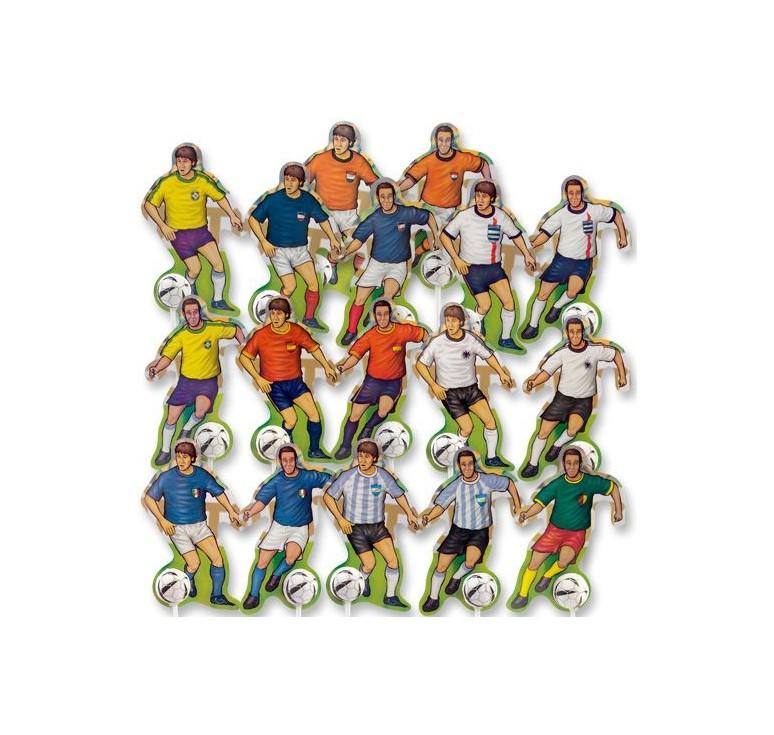 Décoration gateau joueur de foot