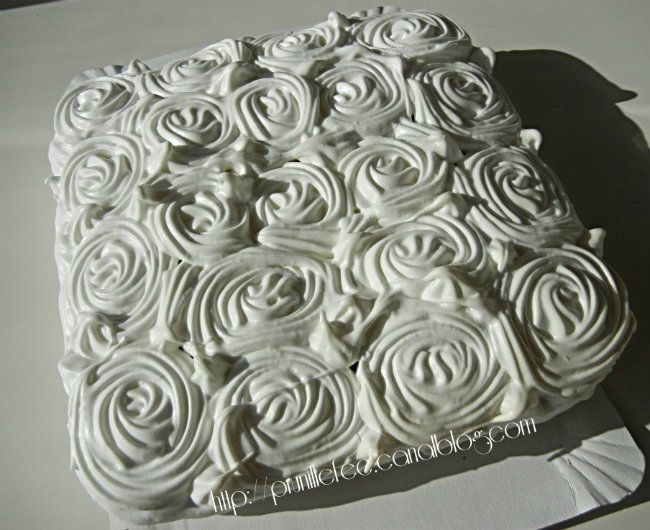 deco gateau meringue