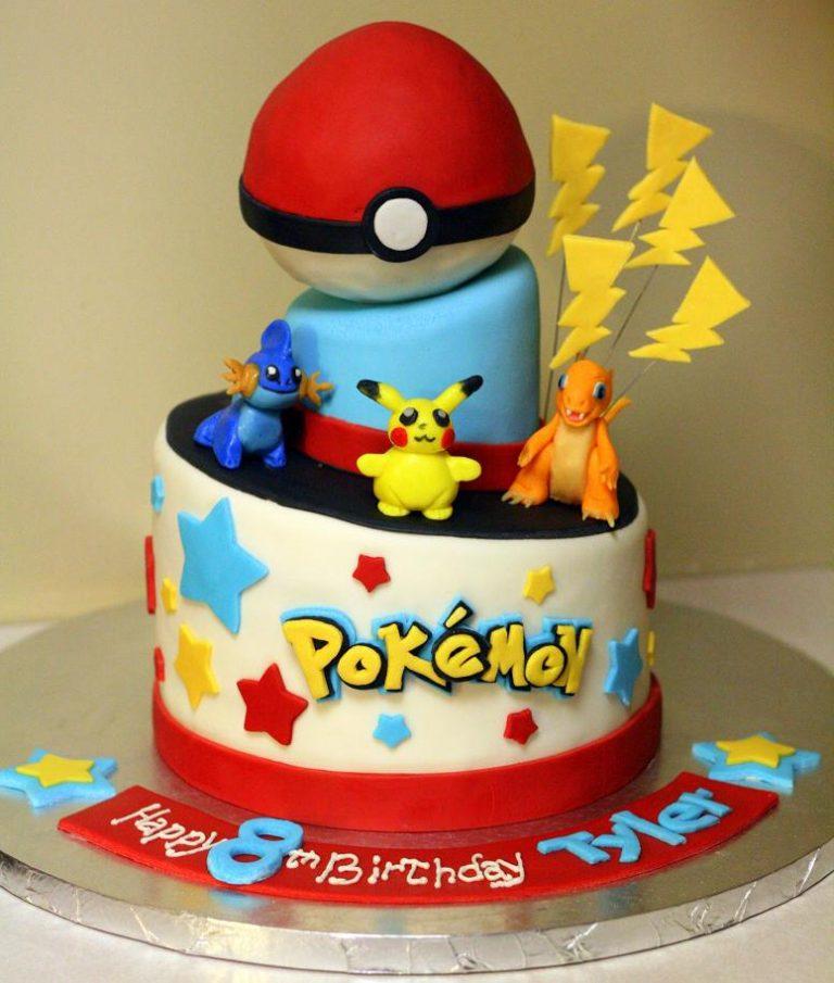 photo décoration gateau pokemon