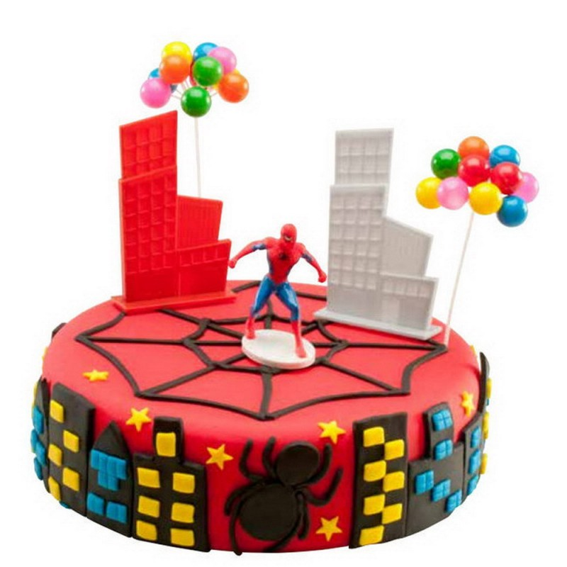 Décoration gateau spiderman