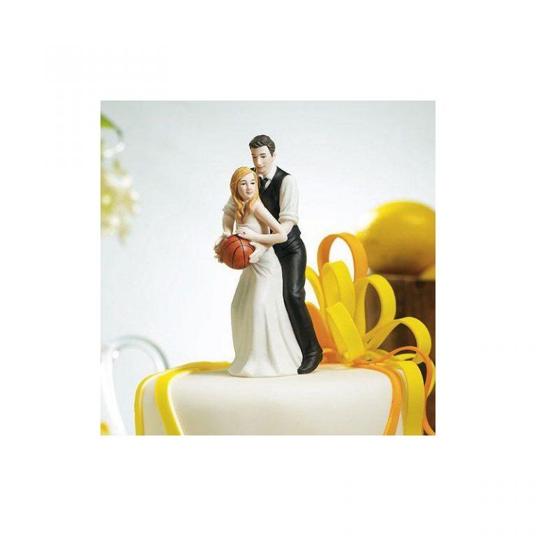 photo figurine gateau mariage basket