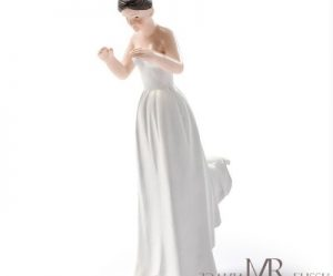 Figurine gateau mariage brune